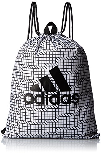 adidas Brushed Gym Bag Bolsa de Deporte, Unisex Adulto, (Blanco Negro), NS