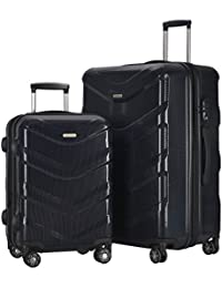 HyBrid Travel 2 PC Luggage Set Durable Lightweight Hard Case Spinner Suitecase