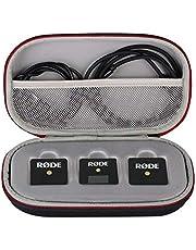 Funda para Rode Wireless Go 2, estuche de transporte duro de repuesto para Rode Wireless Go II, estuche duro de viaje para RODE Wireless Go ii, receptor de sistema de micrófono inalámbrico compacto, negro