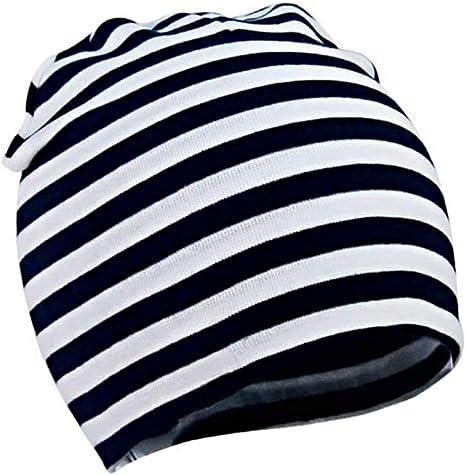 Sombrero del algodón del niño infantil del bebé unisex Gorros suaves de los niños recién nacidos lindos de los casquillos para Niños Niñas rayas blancos y negros 1pc: Amazon.es: Bebé