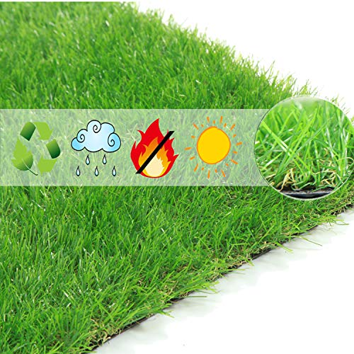 Scorbio Artificial Grass Doormat Synthetic Grass Kitchen Mat Fake Grass Entrance Door Mats Indoor Outdoor Floor Mat for Patio Entryway Plastic Green Lawn Pet Turf for Dog