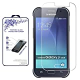 galaxy ace 2 screen protector - [2-Pack] Samsung Galaxy J1 Ace HD Tempered Glass Screen Protector - Nacodex 9H Hardness Screen Cover,0.26mm HD Round Angle ([2 Pack] for Samsung Galaxy J1 Ace)