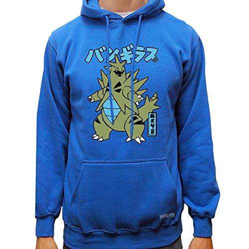 Pokémon Tyranitar Fanart - Hoodie - Pokémon Shirt (XL, Blue)