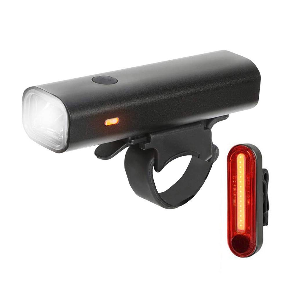 Barthylomo 2019 LED Bicycle Light Set Waterproof Lamp USB Rechargeable Bike Lights for Cycling