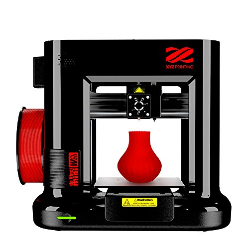 "da Vinci Mini Wireless 3D Printer-6""x6""x6"" Built Volume (Includes: $14 300g PLA Filament, 49 Steam 3D Design Tutorial eGift Card – Must Register Product, 10 Maintenance Tools, XYZmaker Cad Software)"