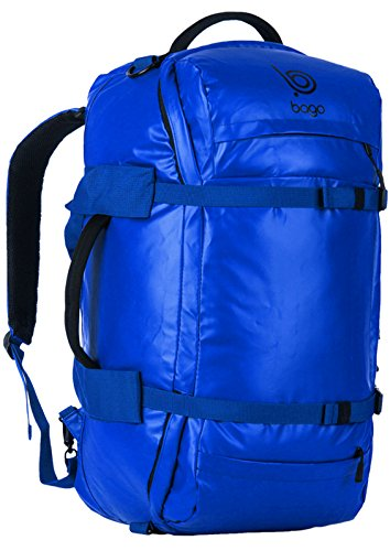 Bago Field Duffel Bag / Backpack. Travel Tactical Duffle For Army Camping (Blue)