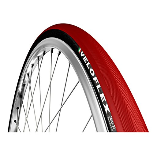 (Veloflex Corsa Open Tubular Clincher Road Bicycle Tire (Red - 700 x 20))
