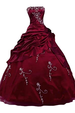 Sunvary Lux Ball Gown Satin Prom Gowns Sweetheart Long Quinceanera Dresses: Amazon.co.uk: Clothing