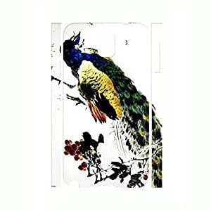 Fashionable Bling Feather Phone Cover Peacock Hard Plastic Case Skin for Samsung Galaxy Note 3 N9005