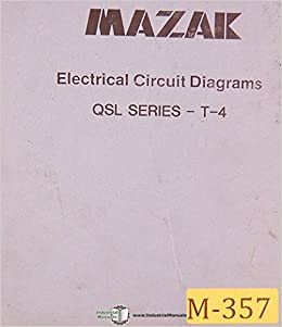 Mazak QSL Series T4 Electrical Circuit Diagrams Manual Mazak