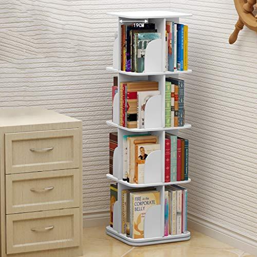 GWXJZ CD DVD Racks CD Storage Rack 2/3/4/5-layer Bookshelf CD Rack 360° Rotatable CD Disc Shelf Ps4 DVD Holder Finishing Rack (Size : 3939128cm) ()