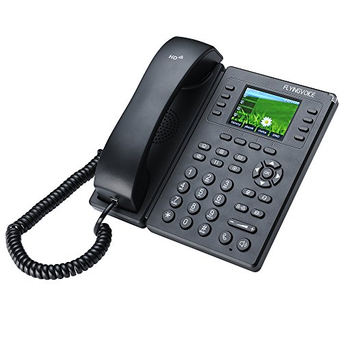 VoIP Telephones FlyingVoice FIP11WP Color Screen Office IP Telephone VoIP Phone with Wireless, AP Mode, 2.8 inch LCD Display, 8 Lines, 8 SIPs, HD Voice, PoE Support, 32BLF