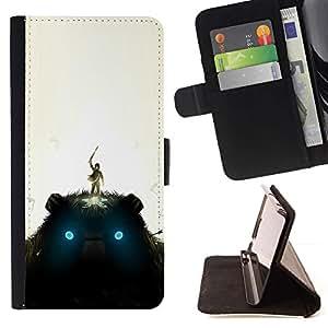 Momo Phone Case / Flip Funda de Cuero Case Cover - Gigante de peluche;;;;;;;; - LG G2 D800