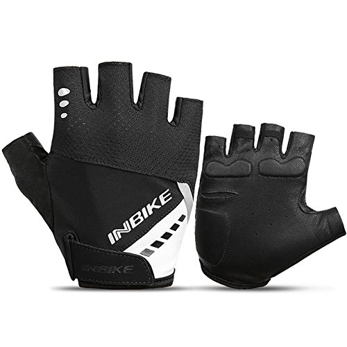 INBIKE 5mm GEL Pad Cycling Gloves MTB Half and Full Finger Gloves Bicycle Motorcycle Anti-slip Shockproof Outdoor Gloves with Reflective Material for Men and Women