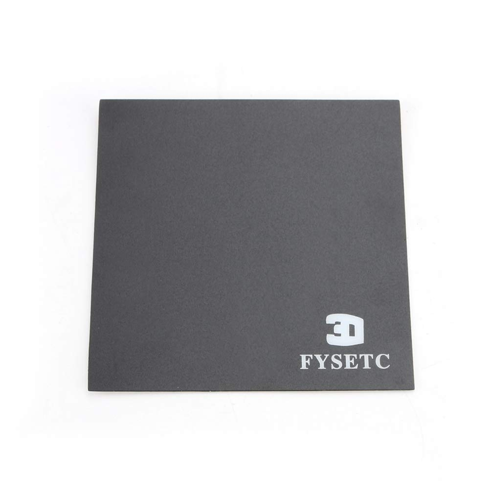120X120 mm//4.7X4.7 Heated Bed Sheet Build Surface with Adhesive Backing Platform for Monoprice Select Mini v2 Printer Parts FYSETC 3D Printer Build Plate