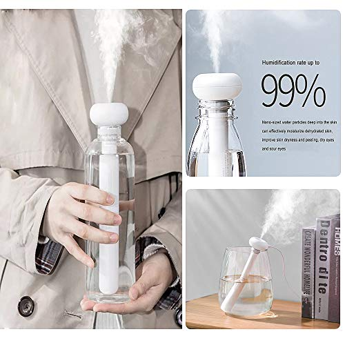 Rain House Portable Mini Humidifier Spray, USB Car Mist Humidifier Travel Mute Air Fresher Humidifiers for Home Office Hotel Household with No Water Bottle