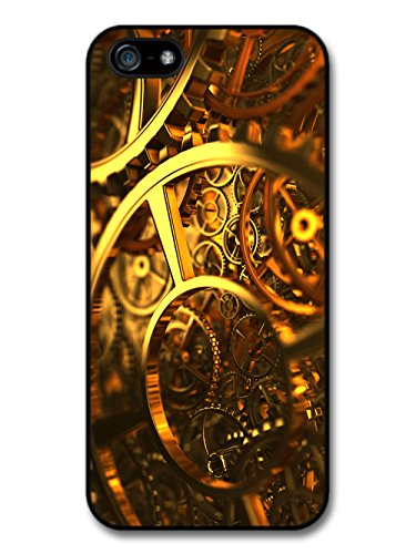 Cool Steam Punk Gears Cogs Fashion in Gold Style case for iPhone 5 5S