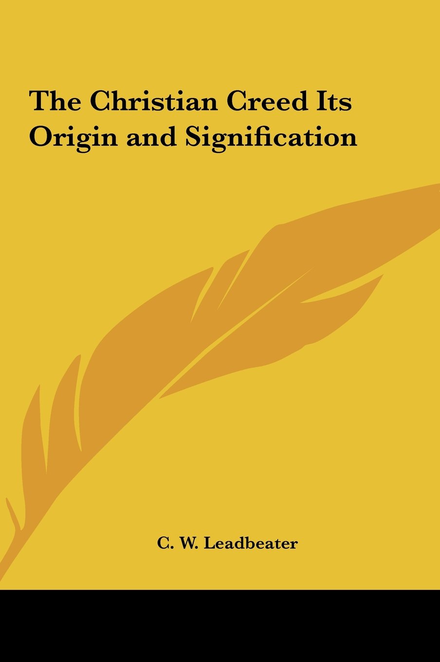 Download The Christian Creed Its Origin and Signification pdf epub