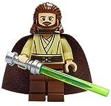 qui gon jinn figure - LEGO Star Wars Minifigure - Qui-Gon Jinn Classic Version with Lightsaber