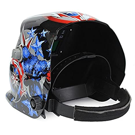 WELDTOOLS Welding Helmet Auto Darkening Solar Powered Weld/Grind Selectable Mask Protector for Arc Tig Mig Grinding Plasma Cutting - - Amazon.com