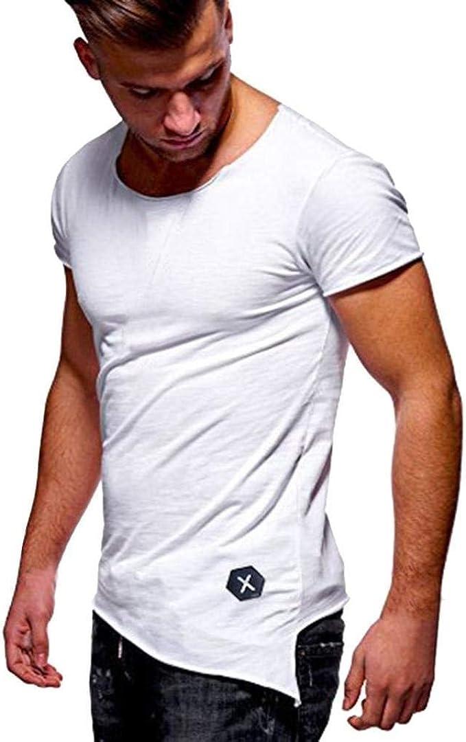 Camiseta Básica para Hombre Tops De Verano Polo De Manga Ropa ...