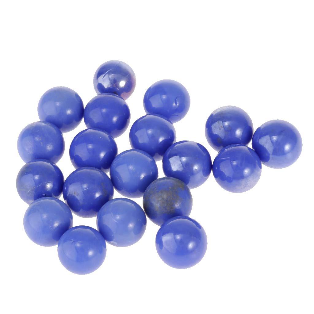 Homyl 20pcs Billes de Verre Transparent Boules Perles pour Fish Tank Pot de Fleurs Jardinage L/âche Vase d/écor Orange