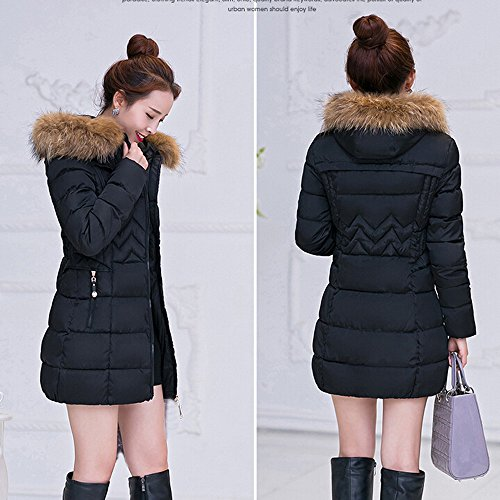 Parka Black OYSOHE Warm Jacket Thicker Coat Winter Fashion Long Womens Lammy Cotton Outwear H4H87qS