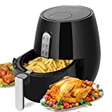 Air Fryer, PERSHOW Air Fryer 3.7Quart(3.5L), 1400 Watt Electric 7 Cook Presets Air Fryer, Comes with Recipes & CookBook – Touch Screen Control – Dishwasher Safe – Auto Shut off & Timer For Sale