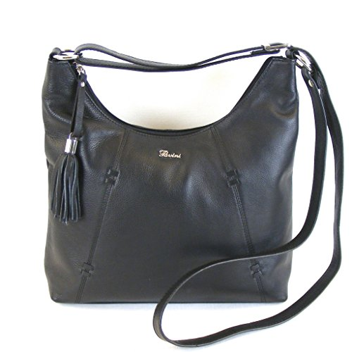 Pavini Cowhide Black Crossed Women Black Bag qZvBFw8q