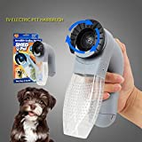 VESONI New Quiet Electric Handheld Vacuum - Pet Hair Remover Suction Device - Dog Cat Grooming Brush Comb Kit to Give Your Pets Comfortable Massage.
