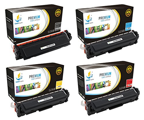 Catch Supplies 410X 4 Pack High Yield Premium Replacement Toner Cartridge Compatible with HP LaserJet Pro M452dn M452dw M452nw, MFP M477fdn M477fdw M477fnw Printers |Black, Cyan, Magenta, - Time First Class Package Delivery