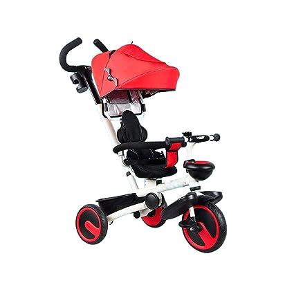 Triciclo De Bicicleta Para Niños 1-6 Años De Edad, Cochecito De Bicicleta Plegable