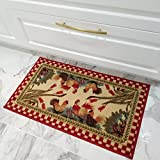 Maxy Home Cucina Rooster 1 ft. 6 in. x 2 ft. 7 in. Kitchen Door Mat