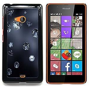 Queen Pattern - FOR Microsoft Nokia Lumia 540 N540 - Diamond Blue Rain Jewel Bling Grey Autumn Nature - Cubierta del caso de impacto con el patr???¡¯???€????€?&Ati