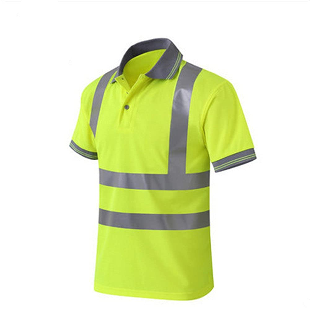 Amazon Gandecor Reflective Polo Shirt Safety Top Quick Dry High