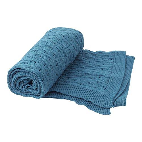 Hallmark Home Lightweight Teal Knit Throw Blanket