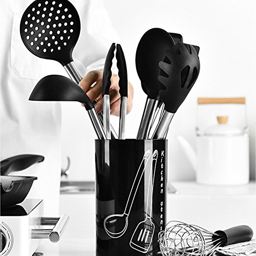 Silicone Kitchen Cooking Utensils set 9 Pieces for ChristmasThanks Giving Gift from Hyan