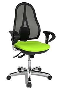 Topstar OP290UG05 Open Point SY Deluxe - Silla giratoria para oficina (incluye brazos), color verde
