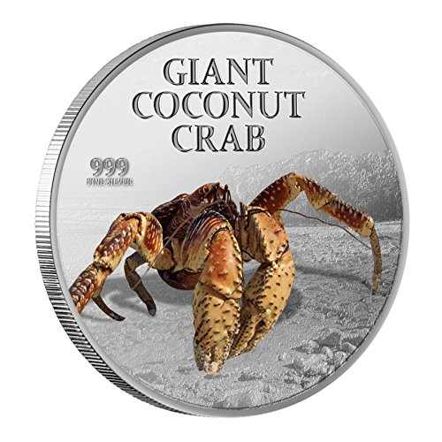 2013 Pitcairn Islands Proof - Giant Coconut Crab - 1oz - Silver Coin - $2 Uncirculated