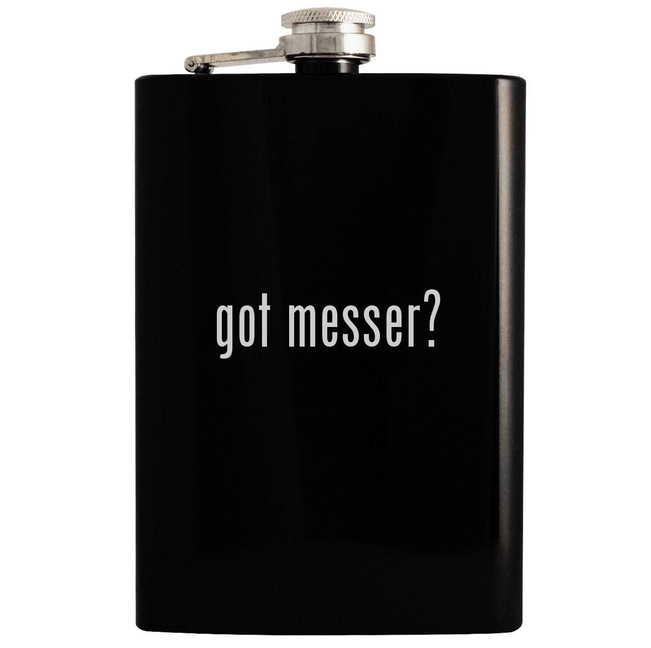 got messer? - 8oz Hip Drinking Alcohol Flask, Black