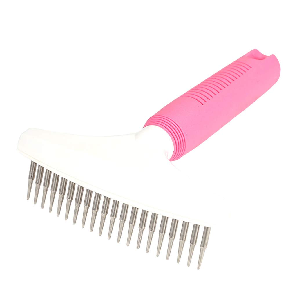 CXQ Large Dog Pink Row Comb Open Knot Comb Dog Supplies Hair Comb Pet Supplies