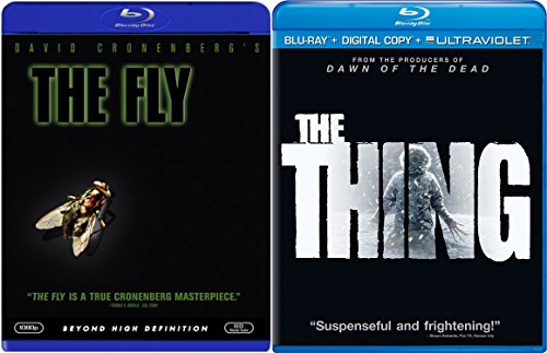 THE THING 2011 & The Fly [Blu-ray] Science Fiction Thriller Double Feature movie set