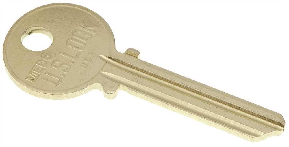 US Lock 2100 Series Keyblank Medeco Commercial Keyway 6 Pin