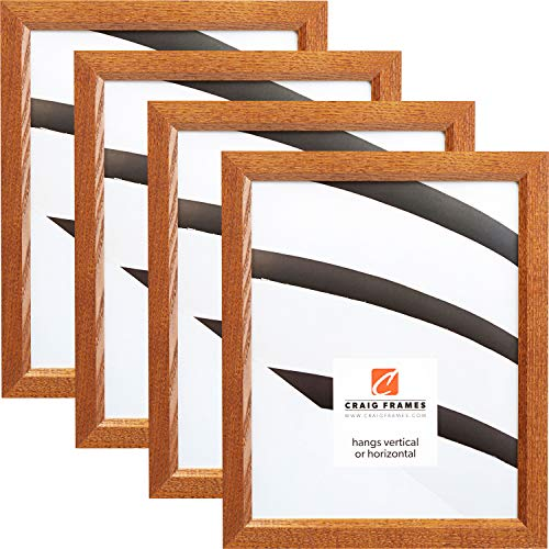 Craig Frames 8261610 5 x 7 Inch Picture Frame, Honey Brown, Set of 4 -