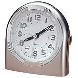 MS Home Precise Plastic Quartz Analog Decimal Display Desktop Alarm Clock - for Heavy Sleepers, Battery Operated - 3.75'' W x 4.25'' H x 2.25'' D