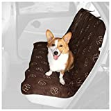 Guardian Gear Polyester Pawprint Pet Car Seat Cover, Chocolate