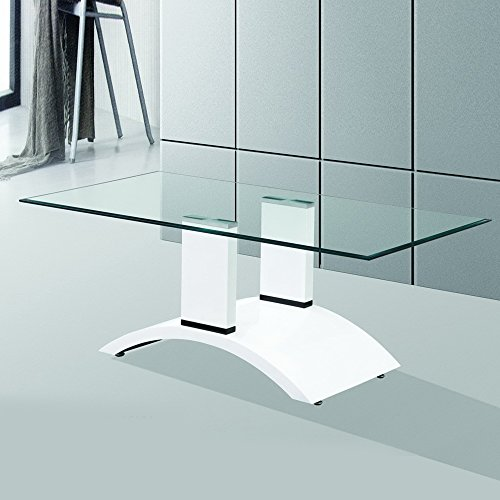 Fab Glass and Mirror FGM-BC104 Modern Coffee Dining Room Glass Table by Fab Glass and Mirror