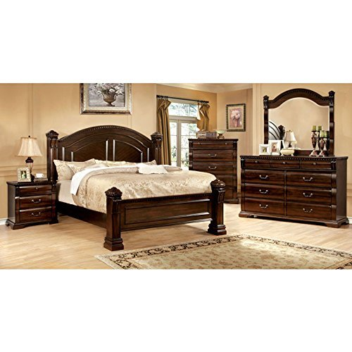24/7 Shop at Home 247SHOPATHOME IDF-7791CK-6PC Bedroom Set, California King, Cherry