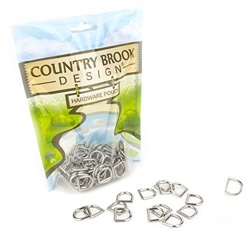 25 - Country Brook Design 1/2 Inch Die Cast Square Bottom D-Rings