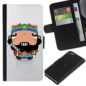 EJOY---La carpeta del tirón la caja de cuero de alta calidad de la PU Caso protector / Apple Iphone 6 / --Individuo divertido fresco impresionante